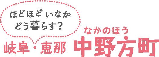 岐阜・恵那 中野方町 ほどほどいなかどう暮らす?